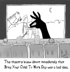 at work in the theater with your child