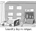 Fraternity laundry day
