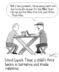 lunch negotiations cartoon