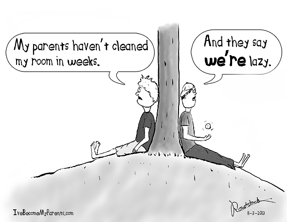 Lazy parents cartoon